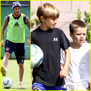 David Beckham Preps for the Real Madrid Match