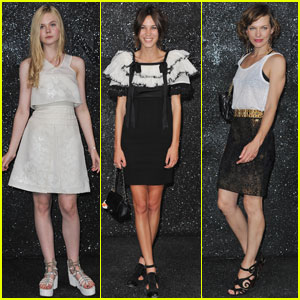 Elle Fanning & Alexa Chung: Chanel Haute Couture Show!