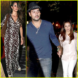 Eva Longoria & Eduardo Cruz: Dinner with Penelope Cruz!