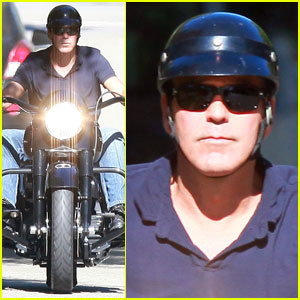 George Clooney Is A Motorcycle Man