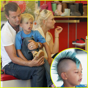Kingston Rossdale: Blue Mohawk!