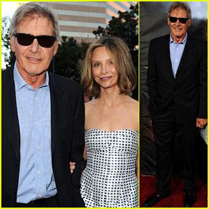 Harrison Ford: 'Cowboys & Aliens' Premiere with Calista Flockhart!
