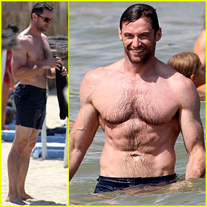 Hugh Jackman: Shirtless in St. Tropez!
