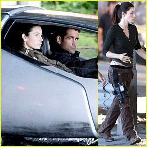 Jessica Biel & Colin Farrell: 'Total Recall' Set!