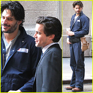 Joe Manganiello: 'White Collar' Filming!