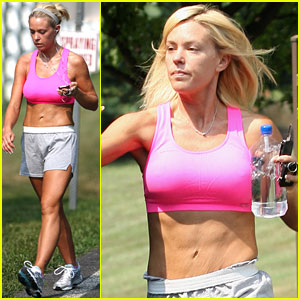 Kate Gosselin: Hot Pink Sports Bra Workout!