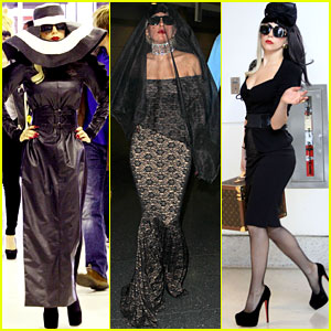 Lady Gaga: Airport Costume Changes!