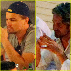 Leonardo DiCaprio & Gerard Butler: Dinner in Italy!