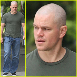 Matt Damon: Shaved Head in Vancouver!
