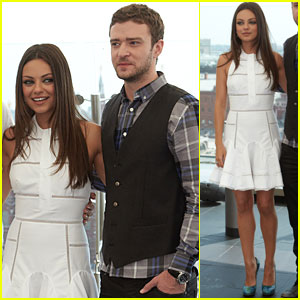 Mila Kunis & Justin Timberlake: 'Friends with Benefits' Moscow Photo Call
