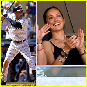 Minka Kelly Cheers for Derek Jeter's 3,000 Hits!