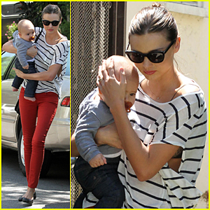 Miranda Kerr: Beverly Hills Visit with Flynn!