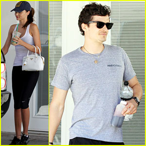 Orlando Bloom & Miranda Kerr: Coffee Couple!