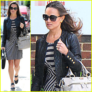 Pippa Middleton Shows Her Stripes