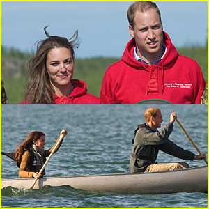 Prince William & Kate: Canoeing in Canada!