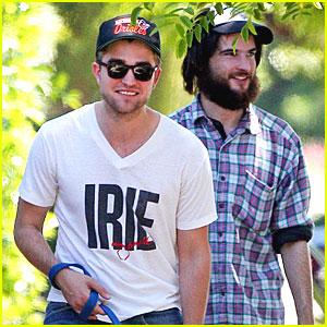 Robert Pattinson & Tom Sturridge Walk the Dog