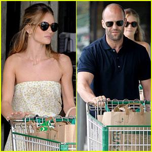 Rosie Huntington-Whiteley & Jason Statham: Grocery Shopping!