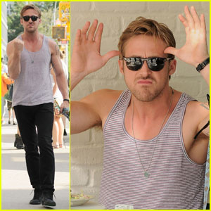 Ryan Gosling: Funny Faces at Photographers!