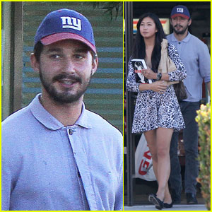 Shia LaBeouf: GNC Stop with Karolyn Pho