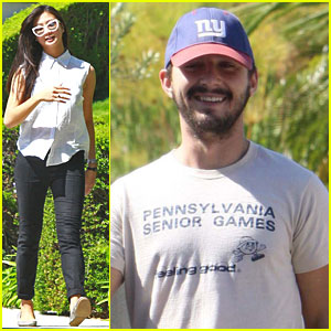Shia LaBeouf & Karolyn Pho Take Brando for a Walk