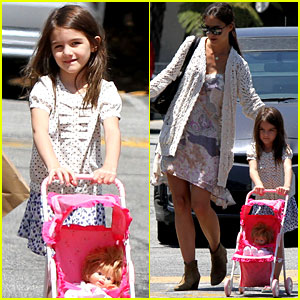 Suri Cruise Pushes the Baby Carriage