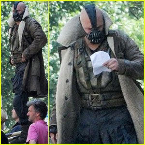 Tom Hardy: On Set As Bane for 'The Dark Knight Rises!'