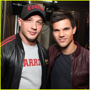 Tom Hardy & Taylor Lautner: Lionsgate Comic-Con Party!