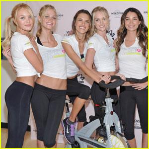 Alessandra Ambrosio: SoulCycle Charity Bike Ride!