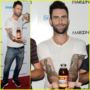 Adam Levine: Maroon 5 Snapple Launch Party!