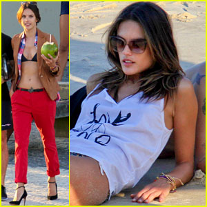 Alessandra Ambrosio: Beachfront Bikini Photo Shoot!