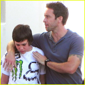 Alex O'Loughlin: 'Hawaii Five-0' Set with Son Saxon!