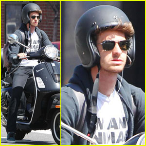 Andrew Garfield: Spider-Man on a Scooter
