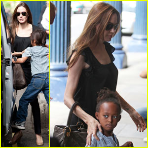 Angelina Jolie: 'Shrek' Musical with the Kids!