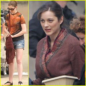 Anne Hathaway & Marion Cotillard: 'Dark Knight Rises' Set!