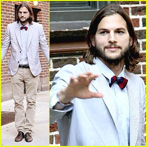 Ashton Kutcher Visits 'Letterman'