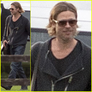 Brad Pitt Returns Home from the 'War'