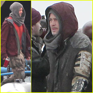 Brad Pitt: 'World War Z' in Cornwall! | Brad Pitt : Just Jared