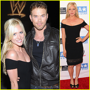 Brittany Snow: WWE Summer Slam Kickoff Party!