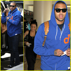 Chris Brown: LAX Departure with Karrueche Tran!