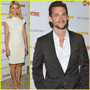 Claire Danes: 'Homeland' Premiere with Hugh Dancy!