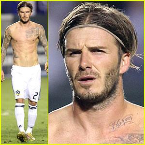 David Beckham: New Tattoo for Harper!