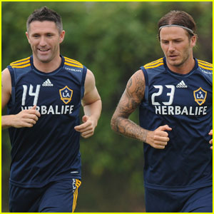 David Beckham Welcomes Robbie Keane to L.A. Galaxy