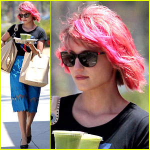 Dianna Agron: Back to Pink Hair!