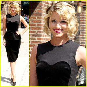 Dianna Agron: LBD at Letterman!