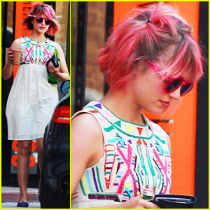 Dianna Agron Debuts Hot Pink Hair
