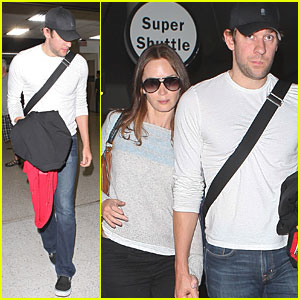 John Krasinski & Emily Blunt: LAX Lovebirds