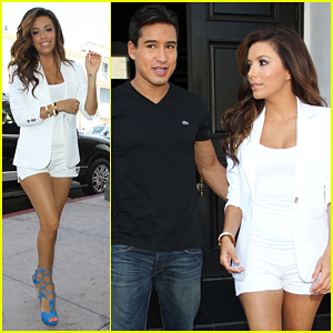 Eva Longoria: Beso Shoot with Mario Lopez!
