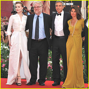 George Clooney & Evan Rachel Wood: 'Ides of March' Venice Premiere!