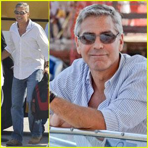 George Clooney Cruises Into Venice