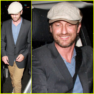 Gerard Butler Parties at Playhouse